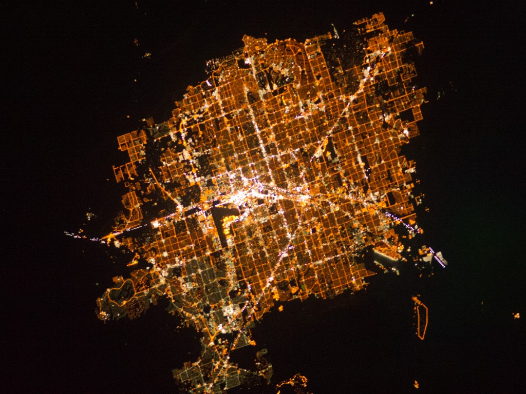 Lights of Las Vegas from space