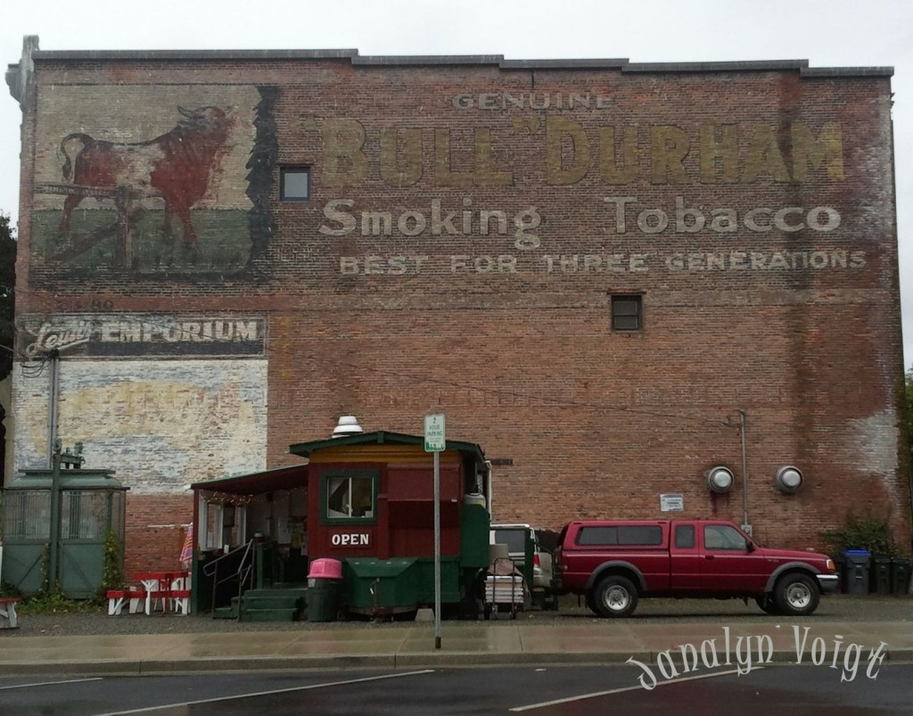 Faded Building Sign in Port Towsend © Janalyn Voigt