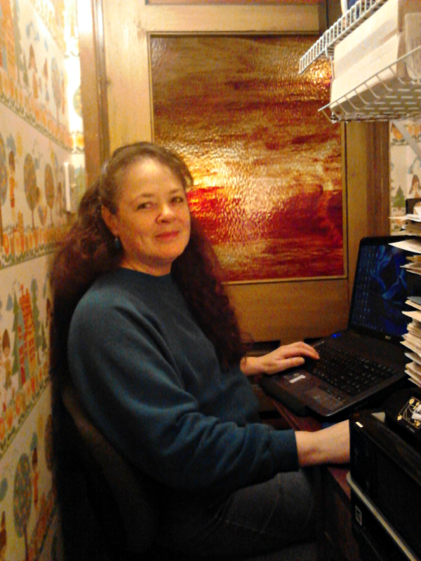author Janalyn Voigt in closet office @JanalynVoigt