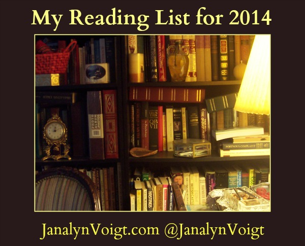 My Reading List for 2104 @JanalynVoigt