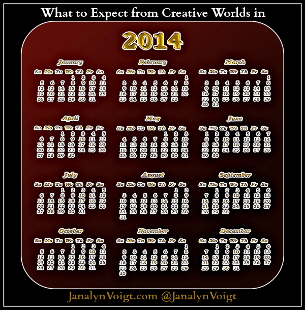 What You Can Expect From Creative Worlds in 2014 @JanalynVoigt