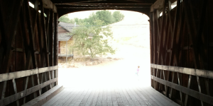 Covered Bridge Wallpaper