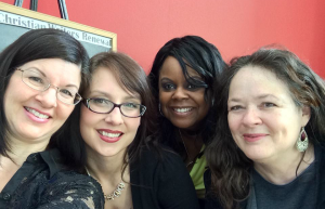Angela Briedenbach, Melissa K. Norris, Monique Munoz, and Janalyn Voigt at the NCWA Renewal Conference