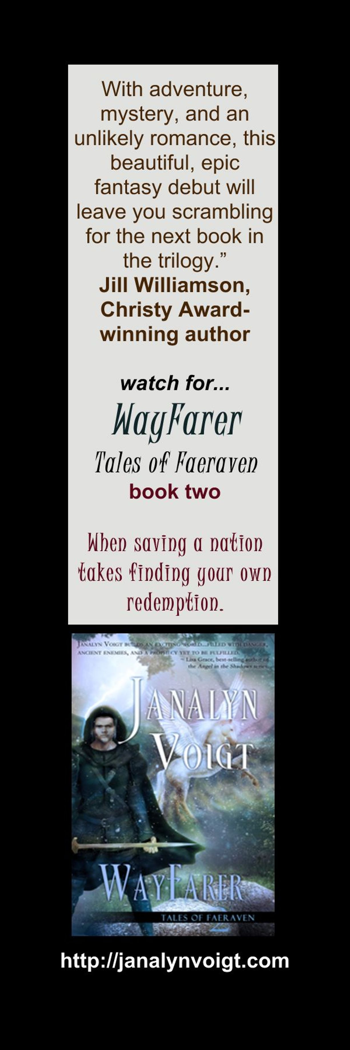 Wayfarer Bookmark
