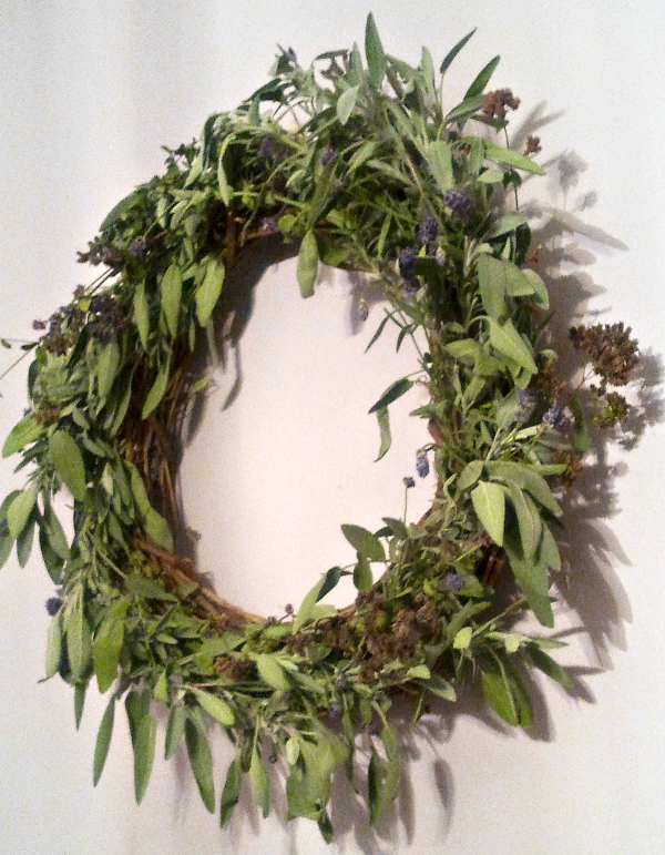 Herb Wreath by @JanalynVoigt Escape into a Simple Life