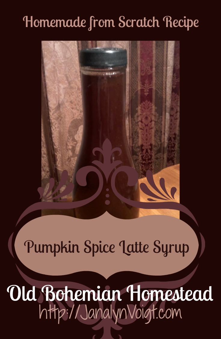 Pumpkin Spice Latte Syrup (Homemade from Scratch Recipe) via Janalyn Voigt| Old Bohemian Homestead