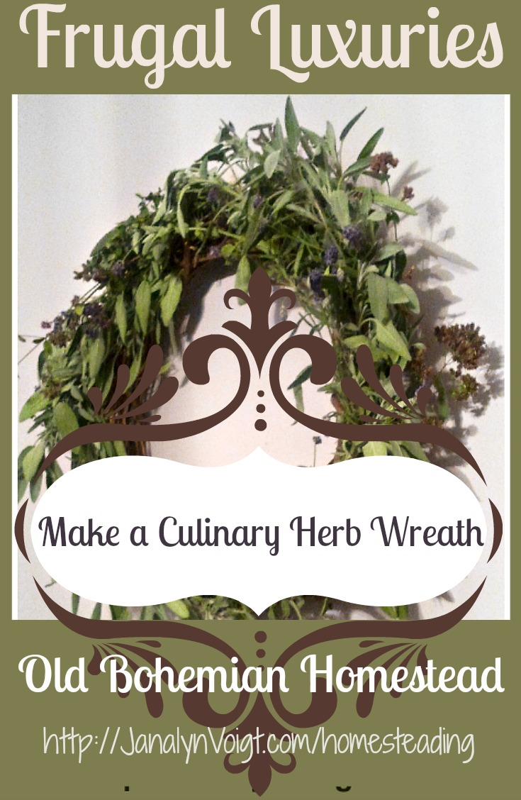 Make a Culinary Herb Wreath in Minutes |Old Bohemian Homestead | Janalyn Voigt